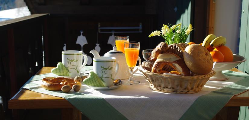 frühstück balkon
